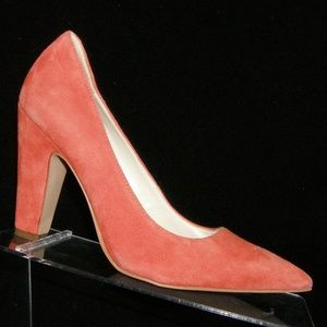 Anne Klein Hollyn orange suede pointed heels 6.5M